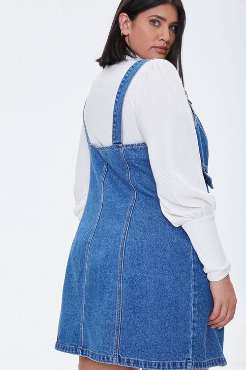 Plus Size Denim Overall Dress, image 3
