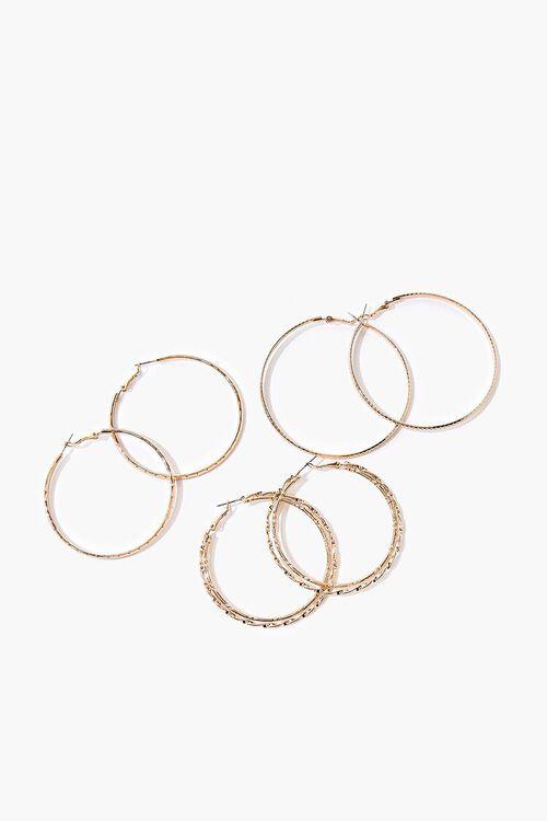 Textured Hoop Earring Set, image 1