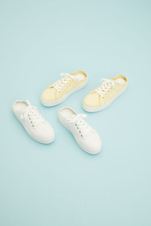 WHITE Low-Top Lace-Up Sneakers, image 1