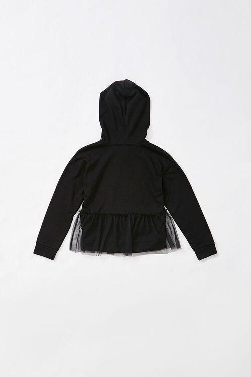 Girls Mesh-Flounce Hoodie (Kids), image 2