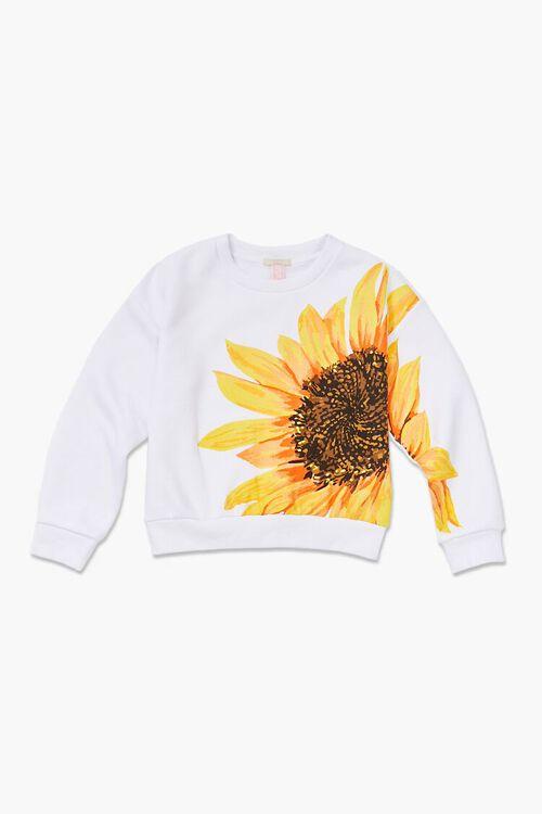 Girls Sunflower Graphic Pullover (Kids), image 1