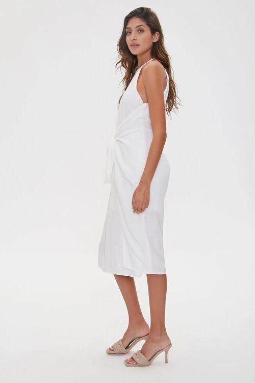 Tie-Front Plunge-Back Dress, image 3
