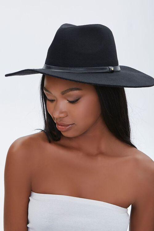 Brushed Wide-Brim Panama Hat, image 1