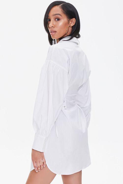 Poplin Lace-Up Shirt Dress, image 2
