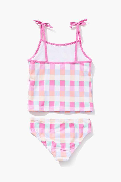 PINK/MULTI Girls Plaid Two-Piece Swimwear Set (Kids), image 2