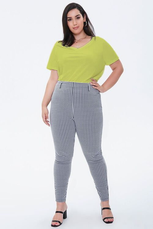 YELLOW Plus Size Relaxed V-Neck Tee, image 4