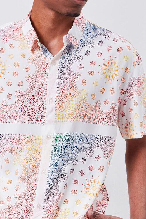 CREAM/MULTI Classic Fit Ornate Print Shirt, image 5