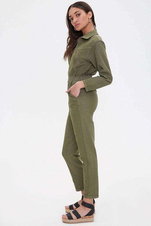 Zippered Denim Jumpsuit, image 2