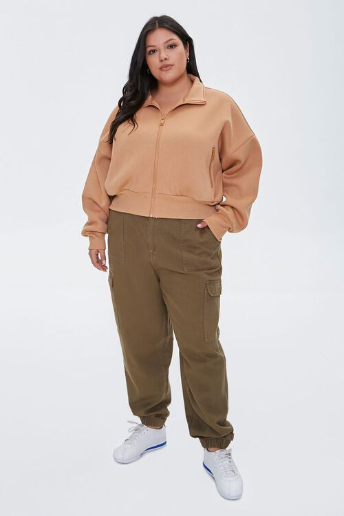 Plus Size Funnel Neck Jacket, image 4