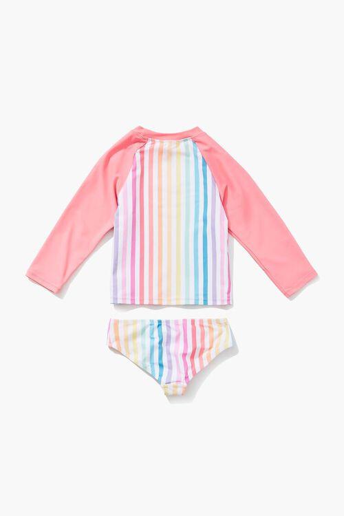 Girls Rainbow Two-Piece Swimsuit (Kids), image 2
