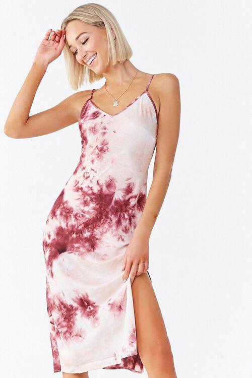 WINE/MULTI Tie-Dye Cami Dress, image 5