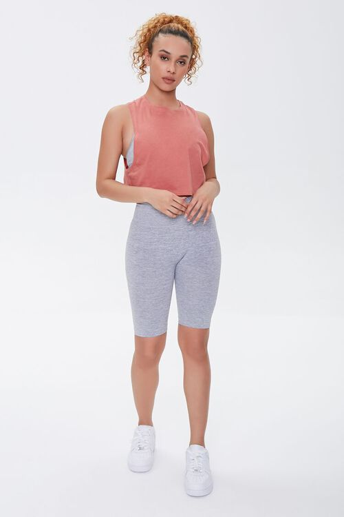 FADED ROSE Active Cropped Muscle Tee, image 4
