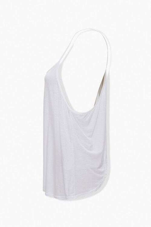 WHITE Tulip-Cut Swing Cami, image 2