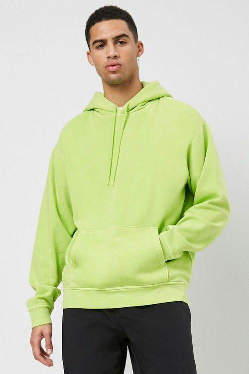 GREEN Drawstring Fleece Hoodie, image 2