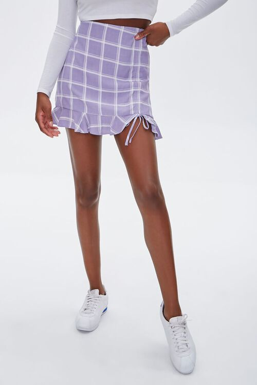 Plaid Flounce Mini Skirt, image 2