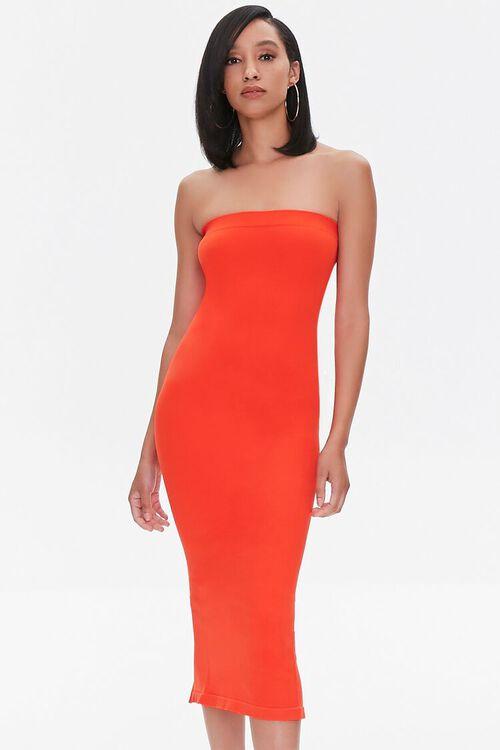 Seamless Strapless Bodycon Midi Dress, image 5