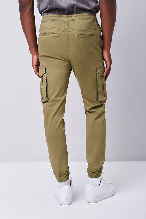 Twill Drawstring Cargo Pants, image 4