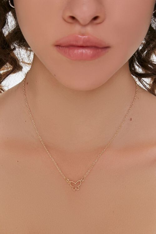 Butterfly Pendant Necklace, image 1