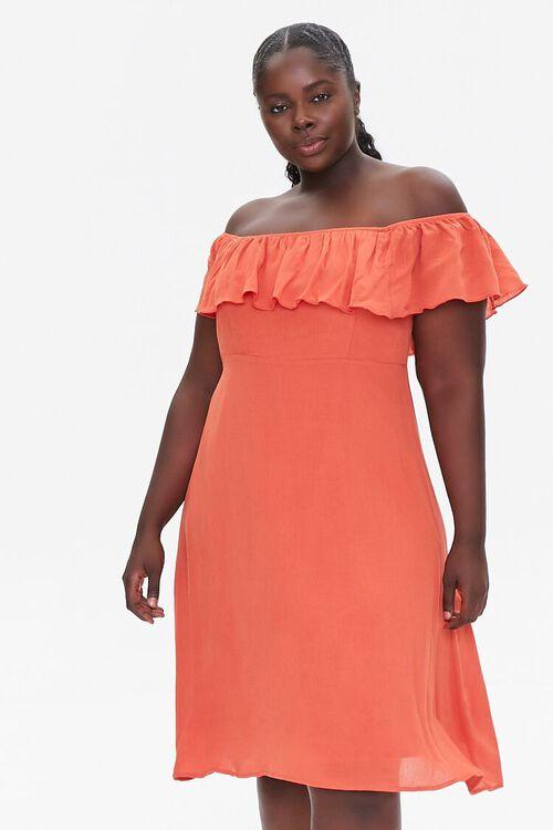 Plus Size Off-the-Shoulder Dress, image 1