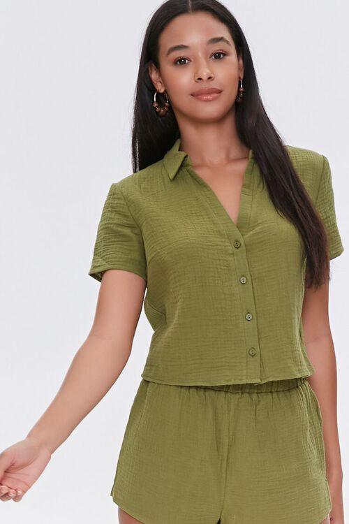 Textured Woven Shirt, image 1