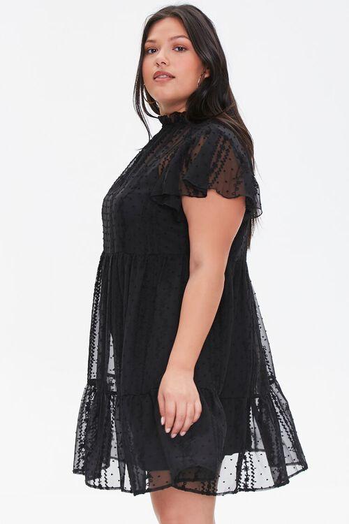 Plus Size Ruffle-Trim Lace Dress, image 2