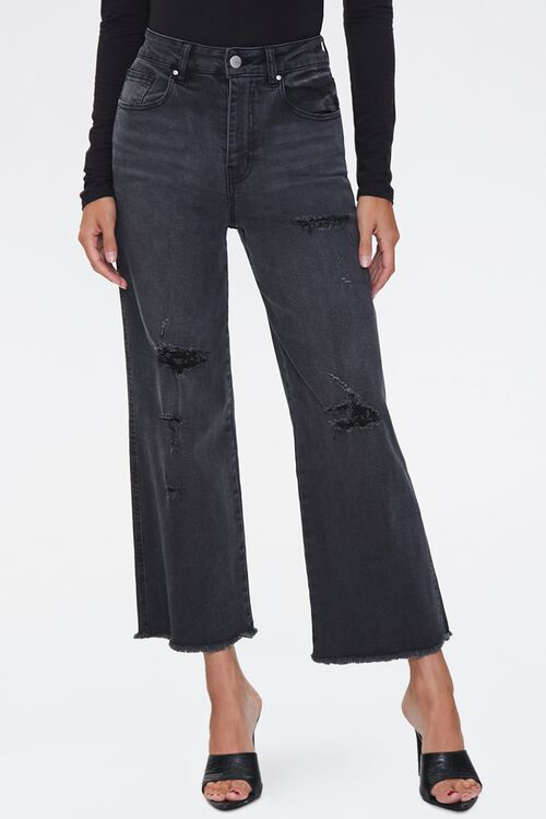 Frayed Flare Ankle Jeans, image 2