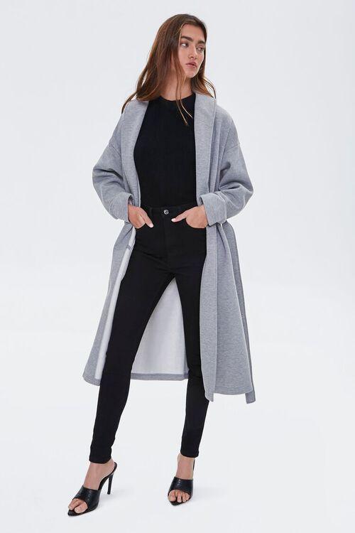 Fleece Tie-Waist Wrap Jacket, image 1