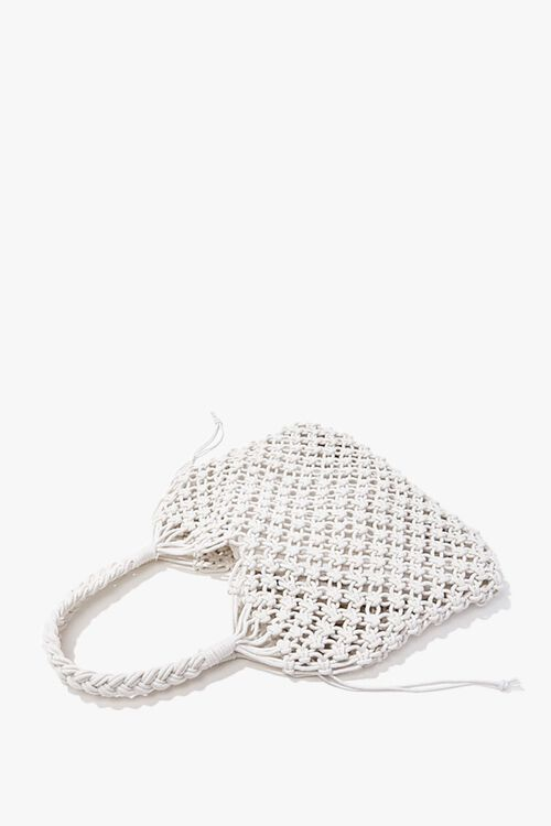 Braided Open-Knit Tote Bag, image 1