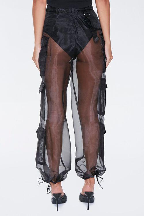Sheer Organza Cargo Pants, image 4