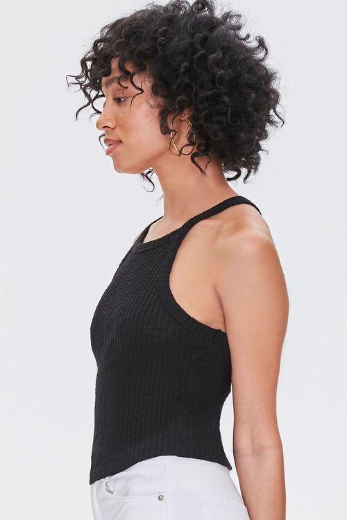 BLACK Ribbed Knit Cami, image 2