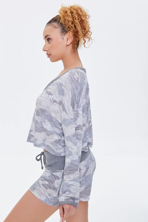 Camo Print Pajama Top, image 3