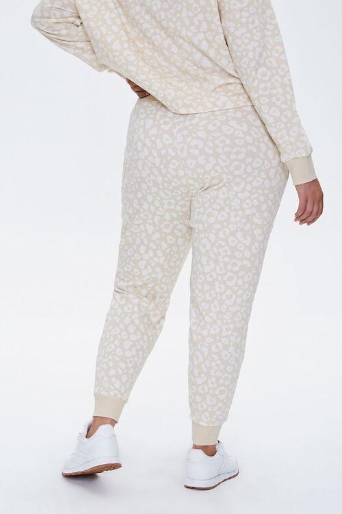 Plus Size Leopard Print Joggers, image 3