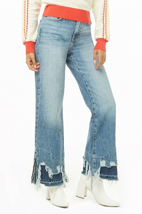 Distressed Wide-Leg Jeans, image 1