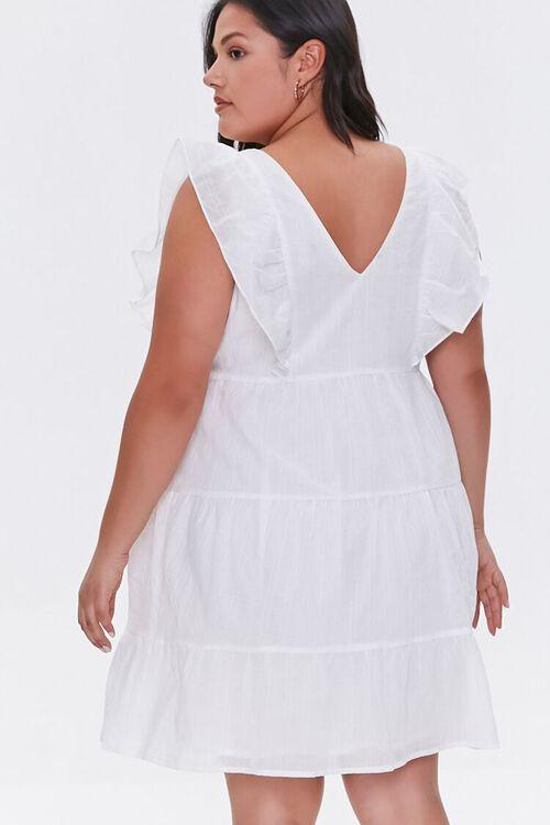 Plus Size Ruffle-Trim Mini Dress, image 3