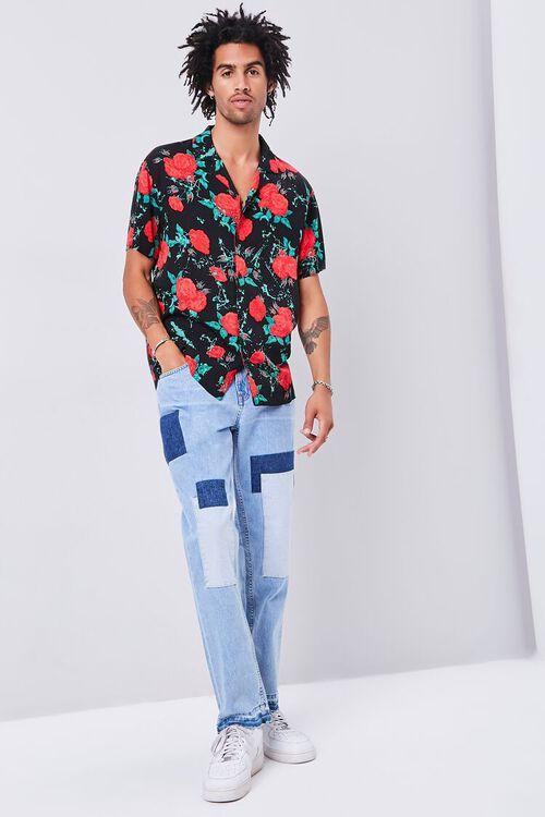 Classic Fit Rose Print Shirt, image 4