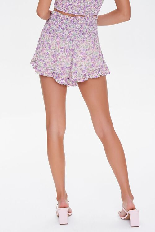 LAVENDER/MULTI Floral Smocked Mini Skirt, image 4