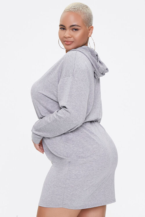 Plus Size Hoodie Sweater Dress, image 2