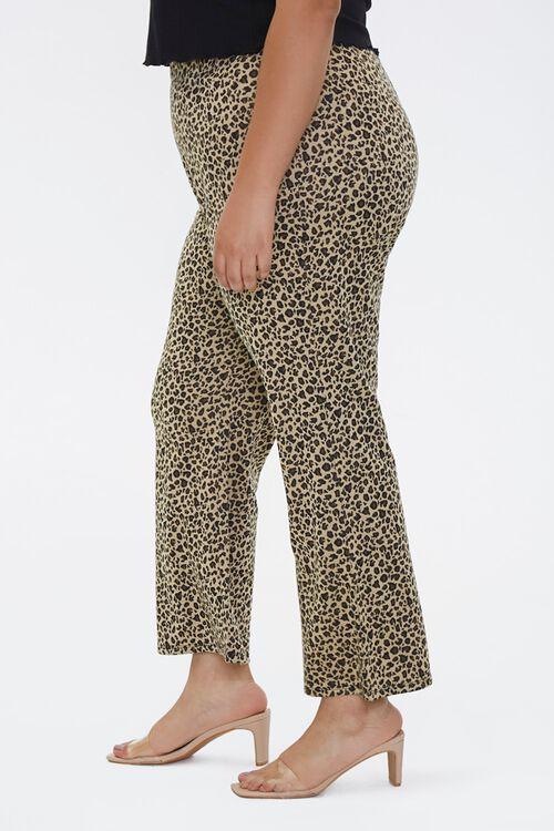 Plus Size Leopard Flare Pants, image 3
