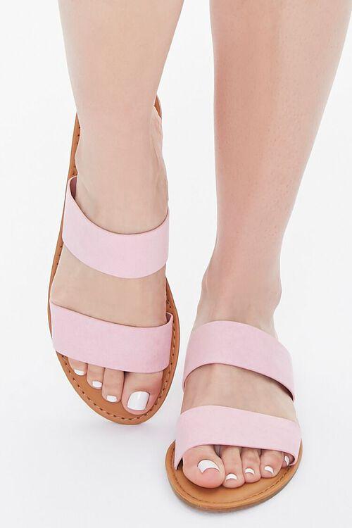 Faux Suede Dual-Strap Sandals, image 4