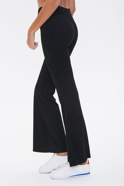 Ribbed Knit Flare Pants, image 3