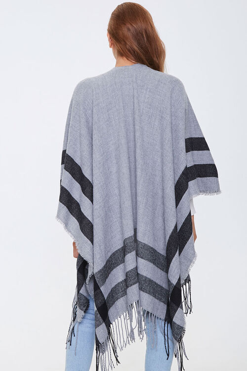 Fringe-Trim Striped Shawl, image 3