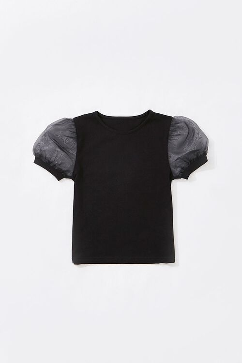 Girls Puff Sleeve Tee (Kids), image 1