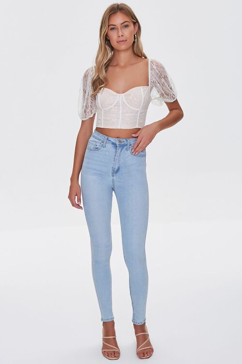 Lace Sweetheart Crop Top, image 4