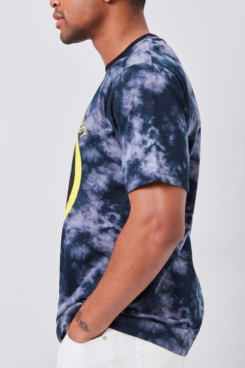 BLACK/YELLOW Smiling Face Graphic Tee, image 3