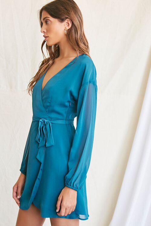 TEAL Tie-Waist Mini Dress, image 2