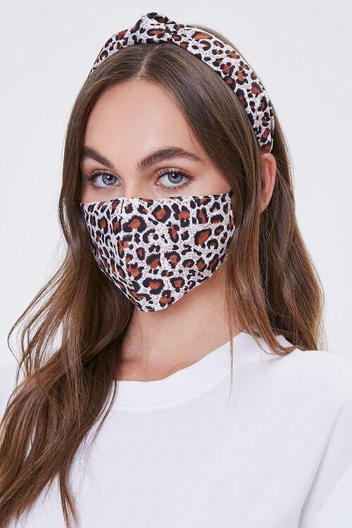 Leopard Headband & Face Mask Set, image 1