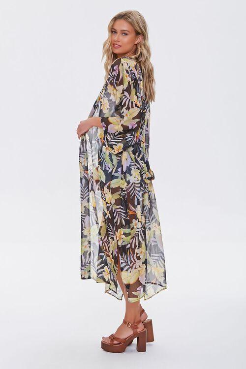 Tropical Floral Print Kimono, image 2