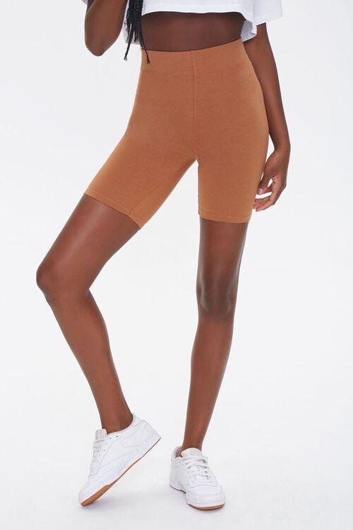 Basic Cotton-Blend Biker Shorts, image 2
