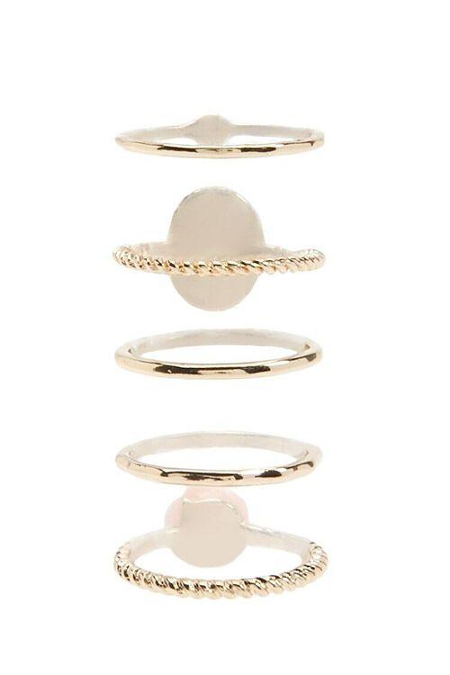 GOLD/PINK Rose & Portrait Ring Set, image 2