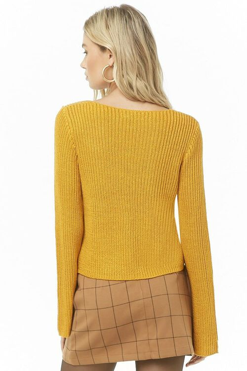 Ribbed Bell-Sleeve Sweater, image 3